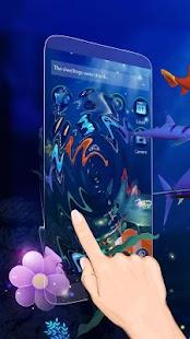 3D Ocean Aquarium Dynamic Fish Theme Skin - náhled