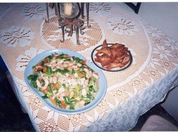 Chow Mein With Pork Filled Fried Won Ton's Recipe