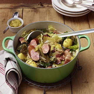 Smoked Sausage, Bacon and Cabbage Pot