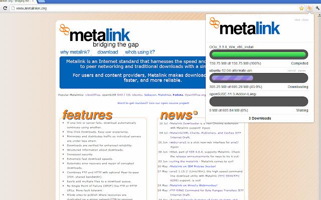 Metalink Downloader
