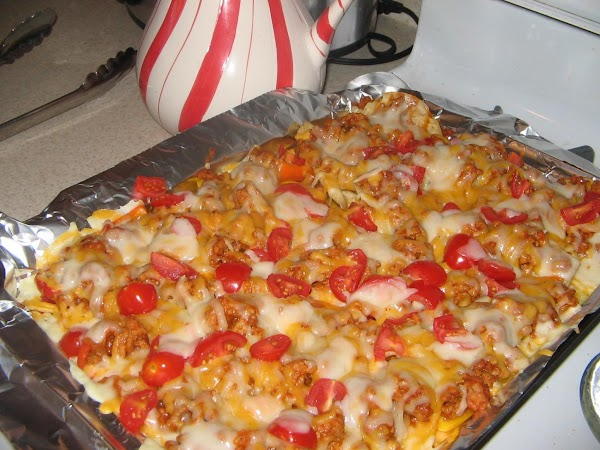 Bake in  the oven for about 8 mnuites  or until the cheese...