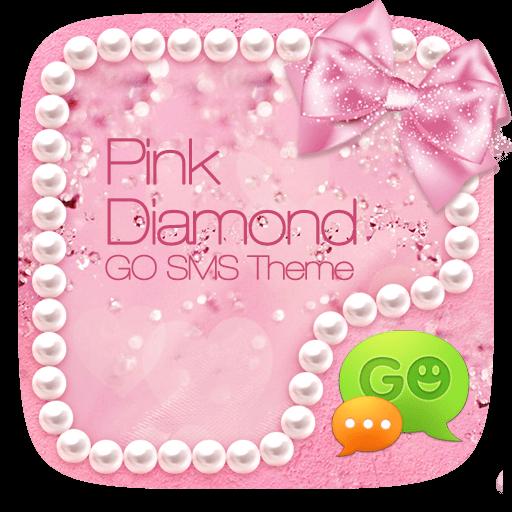 GO SMS PINK DIAMOND THEME