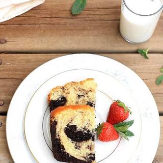 Chocolate Vanilla Marble cake.