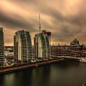 MediaCityUK by Octavian Oprea - Buildings & Architecture Office Buildings & Hotels ( water, bridge, cityscape, media, city,  )