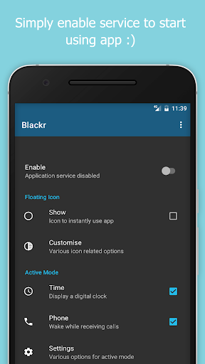 Blackr - AMOLED Screen Off screenshot 1