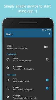 Blackr Pro - OLED Screen Off - screenshot