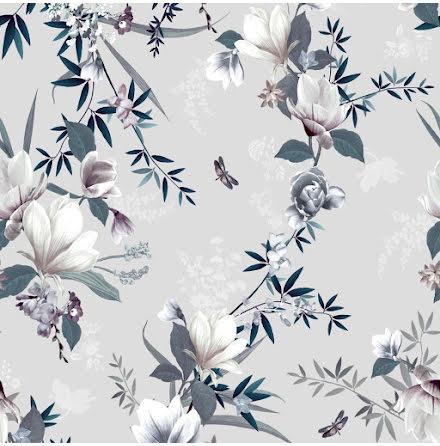 Muriva Lipsy Lotus Tapet med blommor 144052 Grå