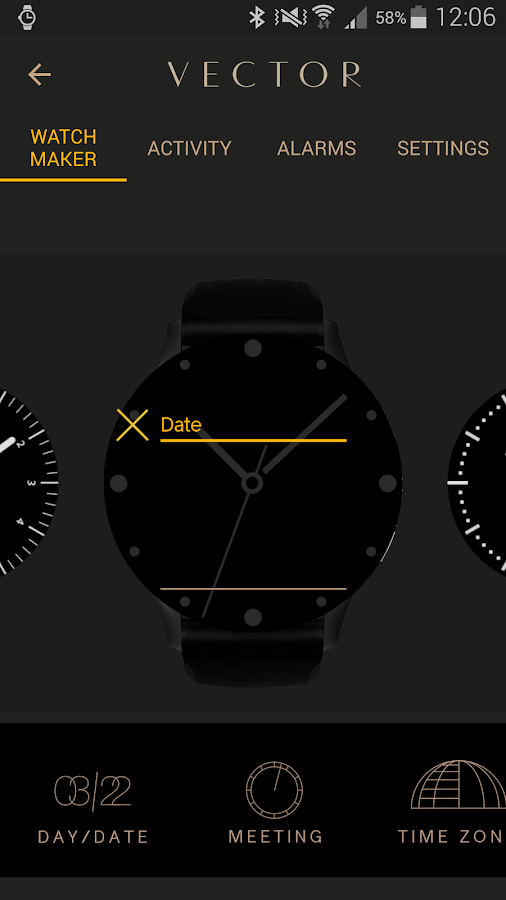 VectorWatch- screenshot