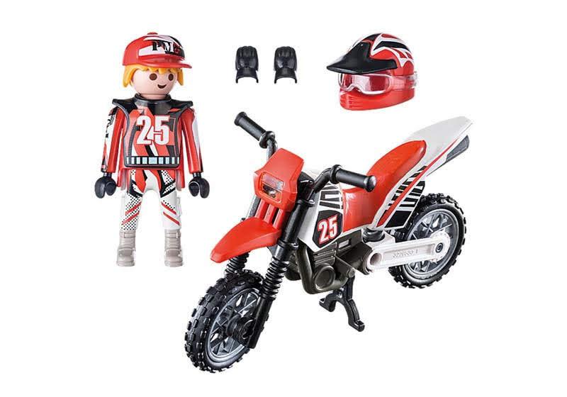 Contenido real de Playmobil® 9357 Motocross