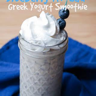 Blueberry Avocado Greek Yogurt Smoothie.