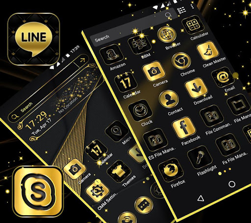 Gold Black Launcher Theme 2.1 2