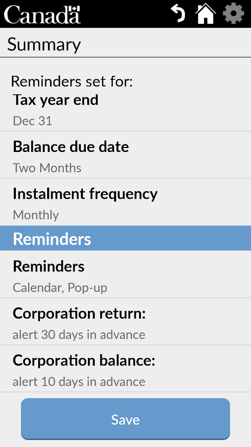 Business Tax Reminder- screenshot