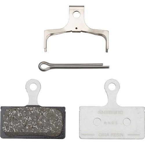 Shimano G03A Resin Disc Brake Pads - Resin, Alloy Backed, XTR M9000/9020, XT M8100/M8120