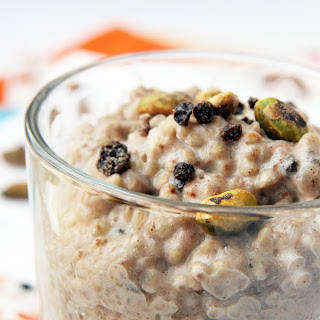 Spiced Buckwheat Pudding with Pistachios and Currants