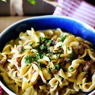 Instant Pot Creamy French Onion Ground Beef and Noodles Recipe