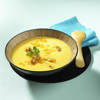 Squash Soup with Ginger and Walnuts