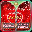 Valentine's Day Zipper Lock icon