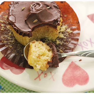 Lavender Honey Cupcakes With Dark Chocolate Frosting