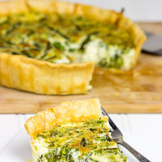 Roasted Asparagus and Gruyere Quiche