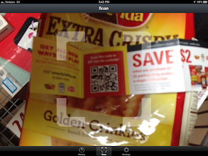 Photo: I scanned the QR code and was brought to the Dip To Play website! I can enter my UPC codes to play online games.