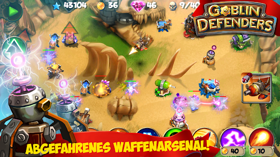 TD: Goblin Defenders - Towers Rush PRO Screenshot