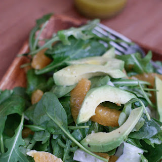 Spinach and Arugula Citrus Salad with Fennel and Avocado