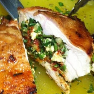 Stuffed Cypriot Chicken Breasts with Feta Recipe