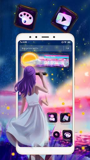 Dream Girl 3D Glass Tech Theme ud83dudc83 screenshots 3