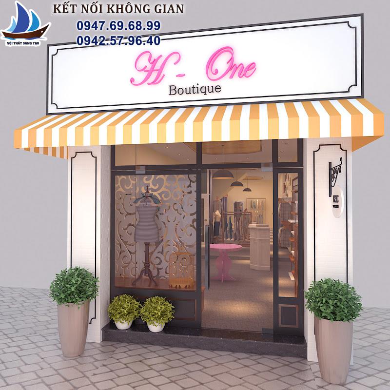 thiết kế cửa hàng thời trang nữ tại hà nội
