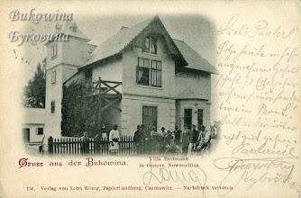 Photo: Австрійська Новоселиця. Вілла Енцмана. Фото 1898 року.