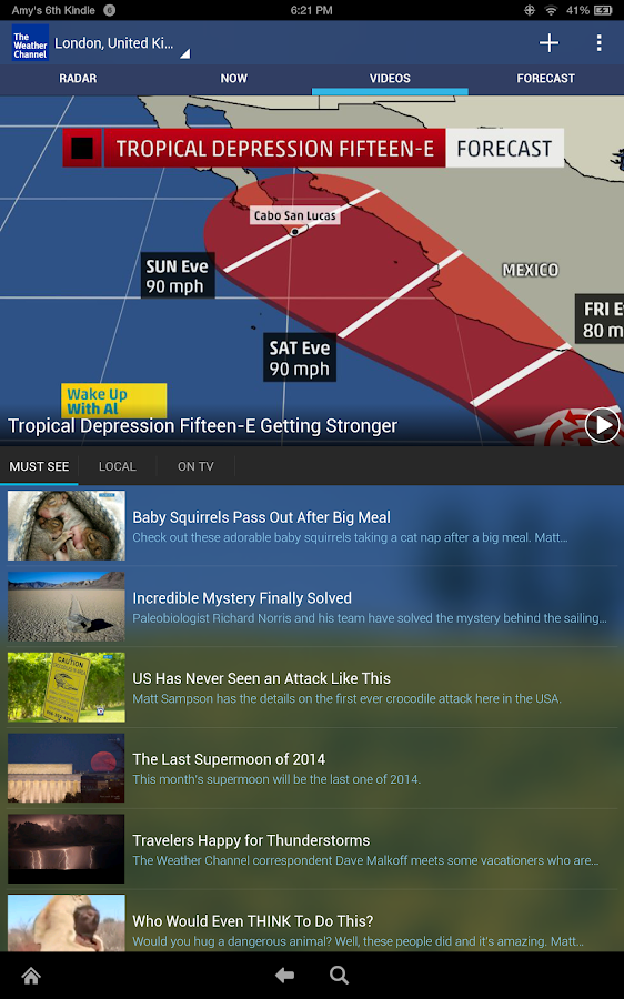 The Weather Channel- screenshot