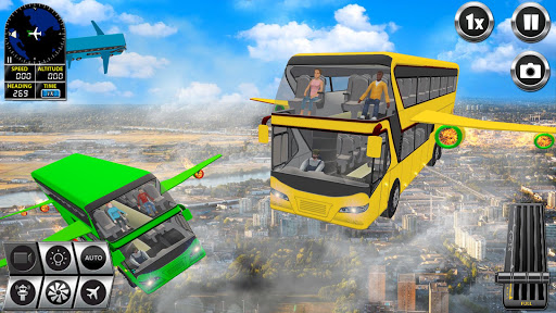 Flying Bus Driving simulator 2019: Free Bus Games screenshots apkshin 15