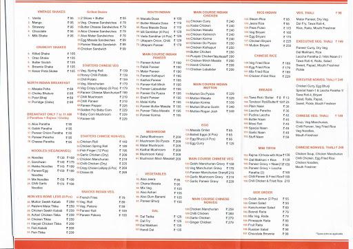 Foodie Restaurant menu 1
