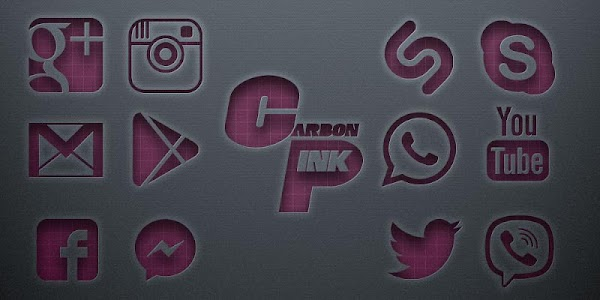 Carbon Pink Solo Launcher Theme 5.0.1