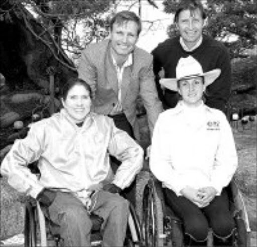 ZIP: Marion milner and Talita van Rooyen with Dominique Rey and Michel Rey, back. © Unknown.