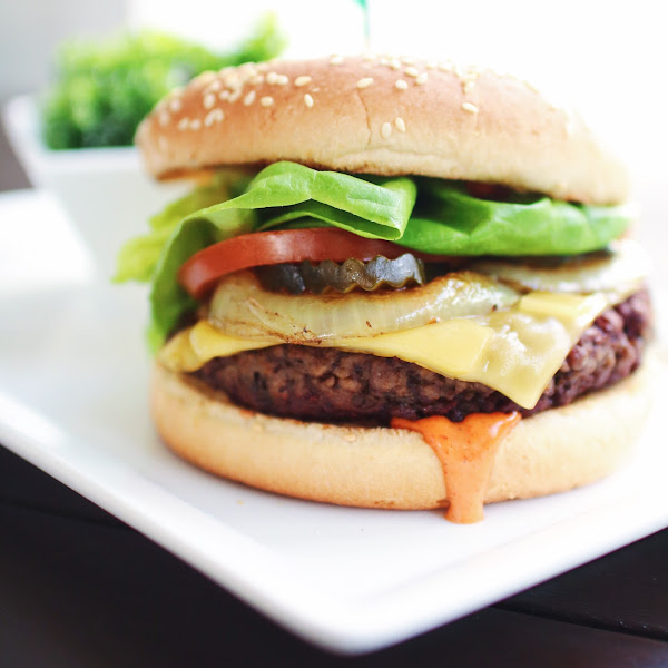 Plum-Possible Burger - Substitute Bread to Make Gluten Free!