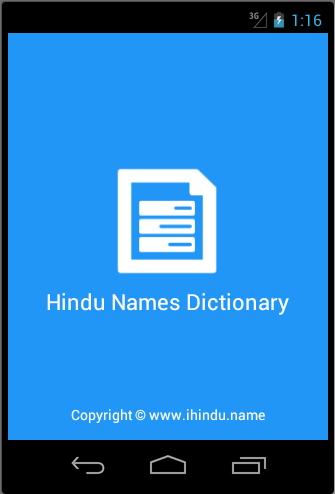 Hindu Names Dictionary