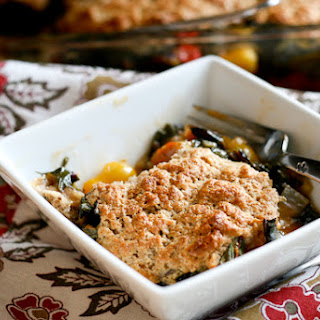 Tomato and Chard Cobbler