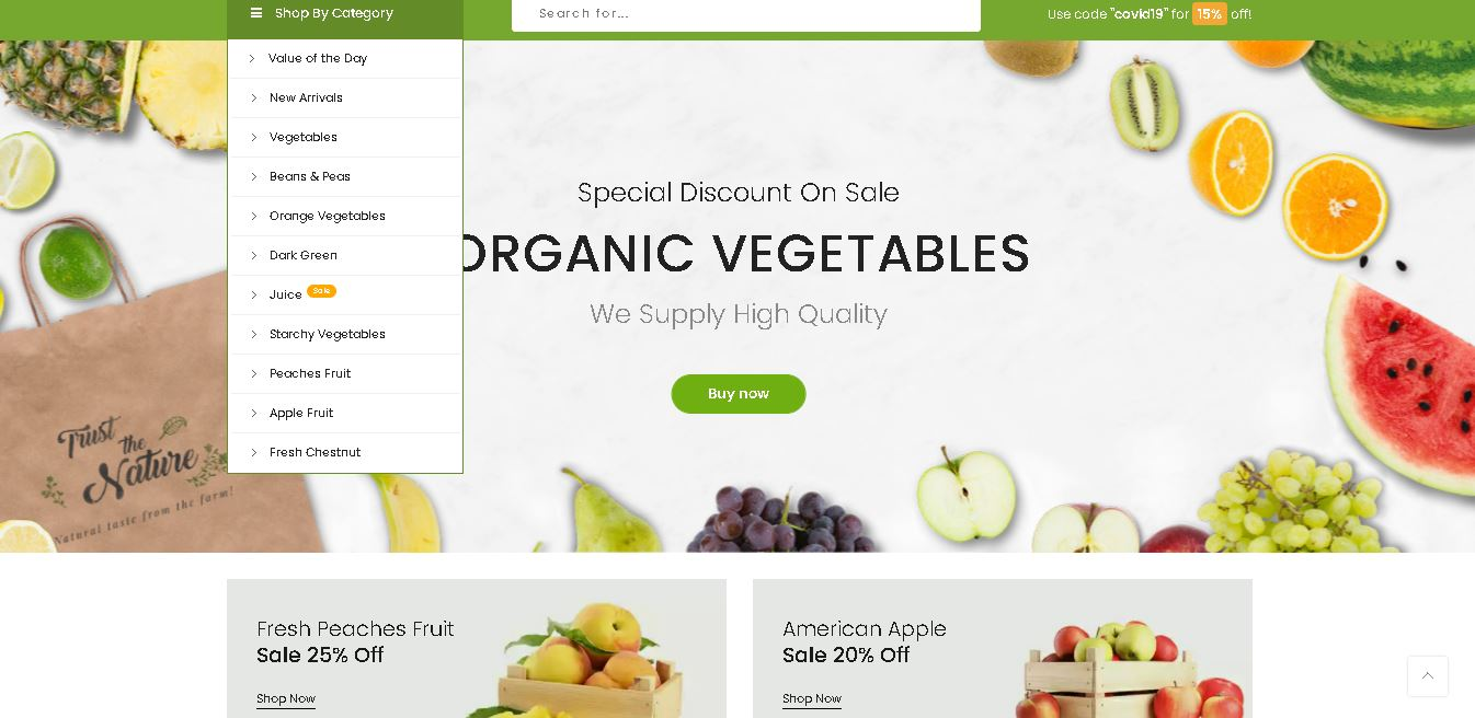 Fruits and vegetables magento theme claue