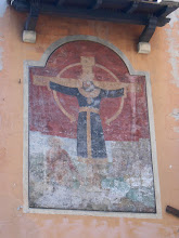 Photo: A fresco we saw across the street from the church in the previous picture
