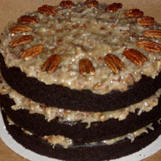 Healthy German Dark Chocolate Cake.