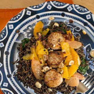 Seared Scallops with Citrus Trio + Wild Rice