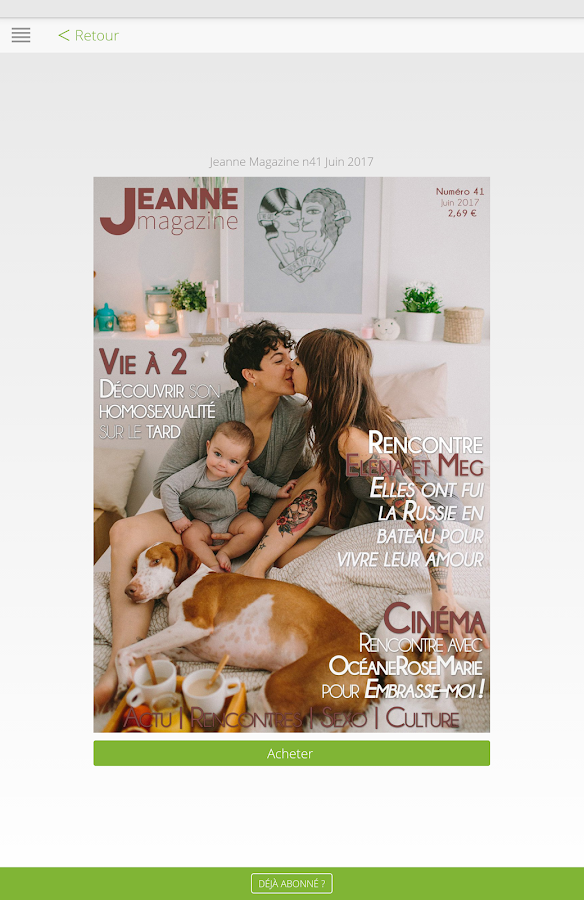 Jeanne Magazine- screenshot