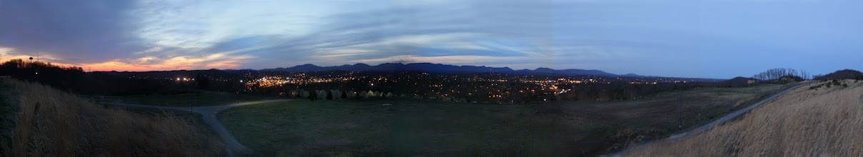 Photo: Oak Ridge at nightfall right after sunset from Oak Ridge Summit on Pine Ridge - 24 MM lens setting