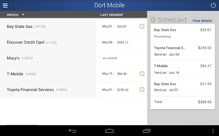android Dort Federal Mobile Banking Screenshot 8