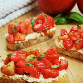 Fresh Tomato and Ricotta Bruschetta.