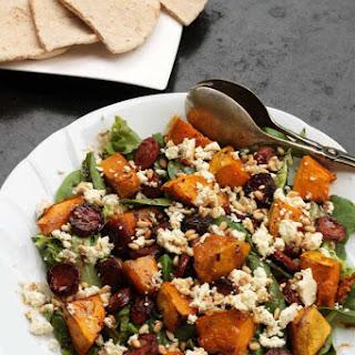Pumpkin, Chorizo & Feta Salad