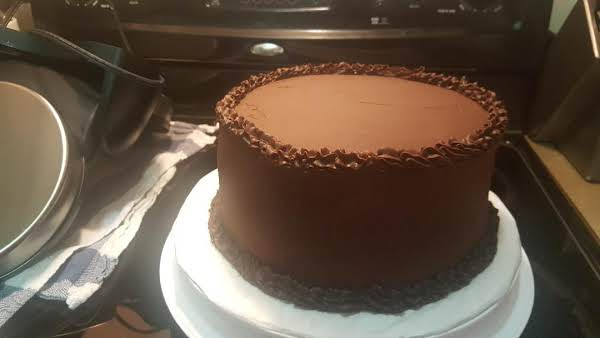My Chocolate Cake With My Chocolate Buttercream Frosting.