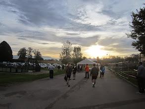 Photo: Le jour se lève sur Faverges de La Tour. Une course nature bien sympa avec un accueil chaleureux.