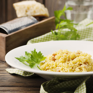 Chicken and Pancetta Risotto with Black Pepper and Lemon Recipe